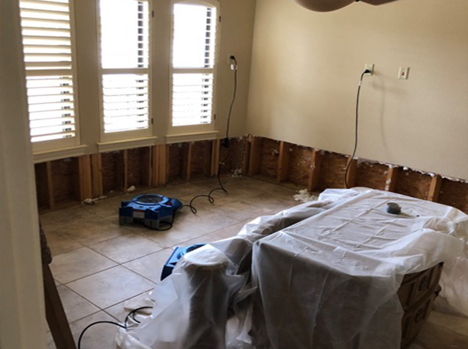 Flooded Dining Room Repair Austin TX