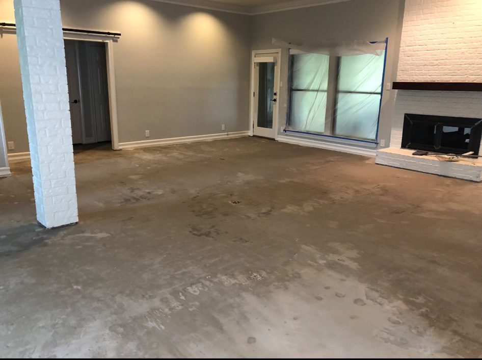 Flooded Living Room Repair Austin TX
